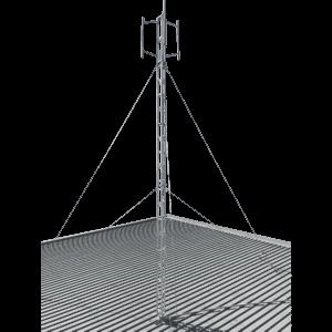 6m-roof-mounted-aluminium-lattice-tower-mast