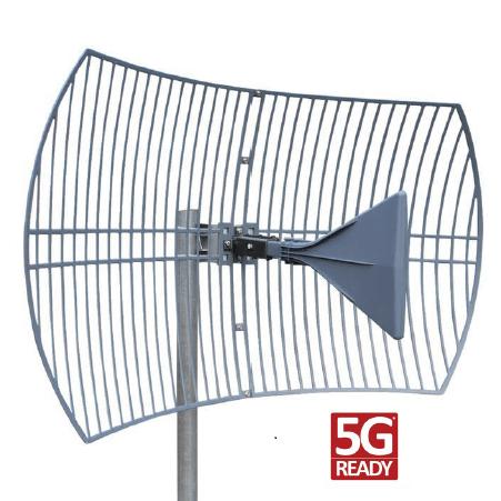 Parabolic Grid Antenna 600-6500MHz 14-25dbi