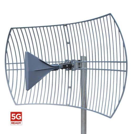 BLACKHAWK PARABOLIC GRID ANTENNA 600-6500MHZ 14-25DBI