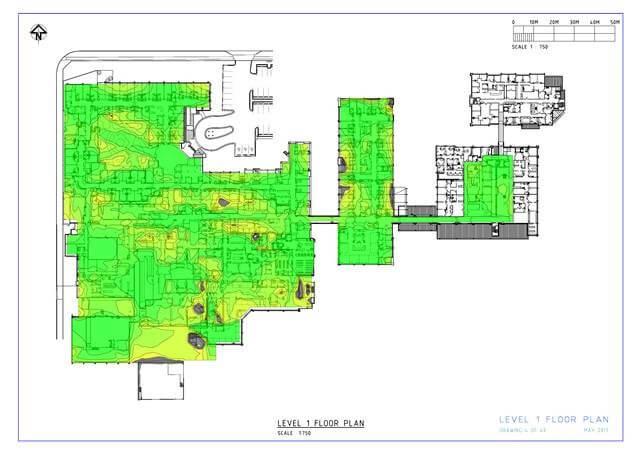 Altai AP Coverage map 1 floor; AP = 20